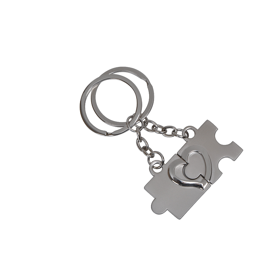 Набор брелоков Мы вместе (2шт.), 1шт: 2,2х3х0,2см, металл