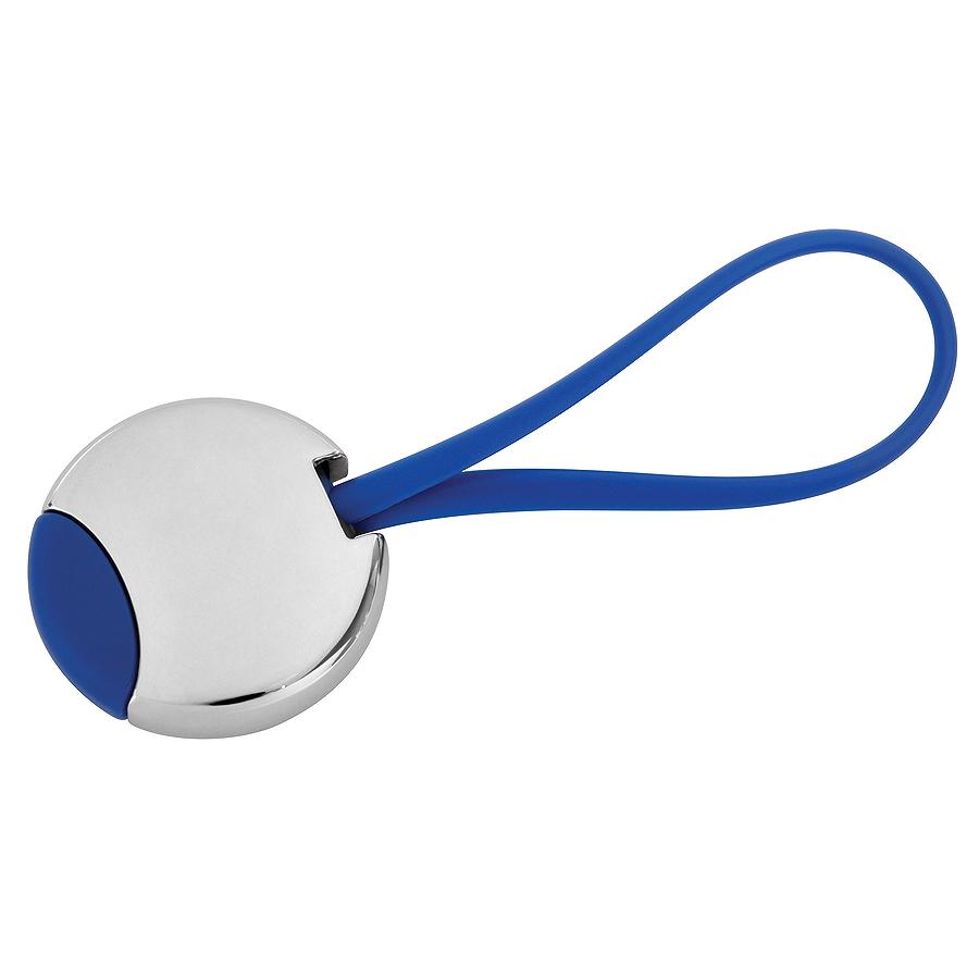Брелок Beat; синий, 3,5x3,5x0,6 см; металл