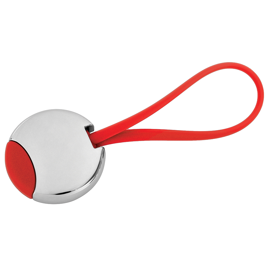 Брелок Beat; красный, 3,5x3,5x0,6 см; металл