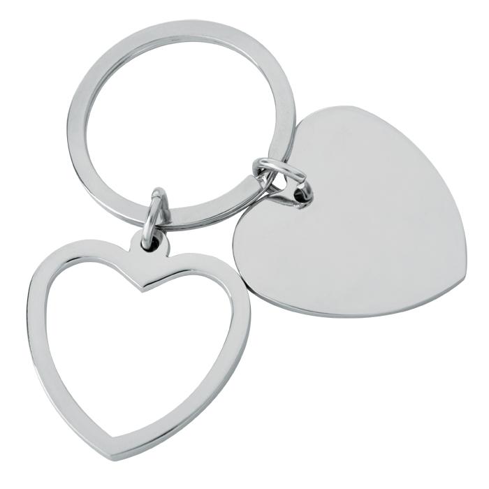 Брелок Heart; 3,5x3,5x0,2 см; металл
