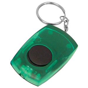 Брелок со светодиодом; зеленый; 5,5х3,5х1,4 см; пластик