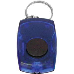 Брелок со светодиодом; синий; 5,5х3,5х1,4 см; пластик