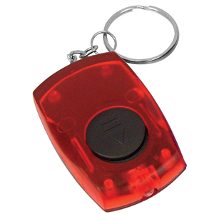 Брелок со светодиодом; красный; 5,5х3,5х1,4 см; пластик