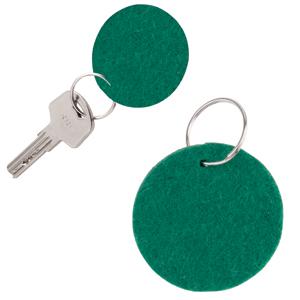 Брелок Round felt, зеленый, 5,3х0,2см, фетр