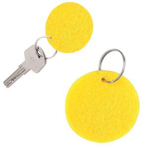 Брелок Round felt, желтый, 5,3х0,2см, фетр