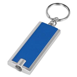 Брелок-фонарик со светодиодом; синий; 6х2,3х1 см; пластик