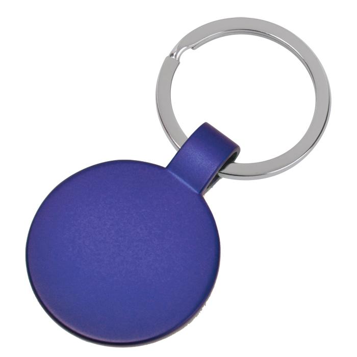 Брелок Круг,синий,3,7х3,7х0,1см,металл