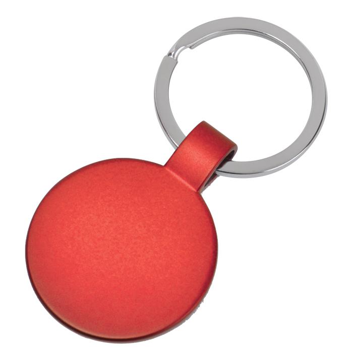 Брелок Круг,красный,3,7х3,7х0,1см,металл