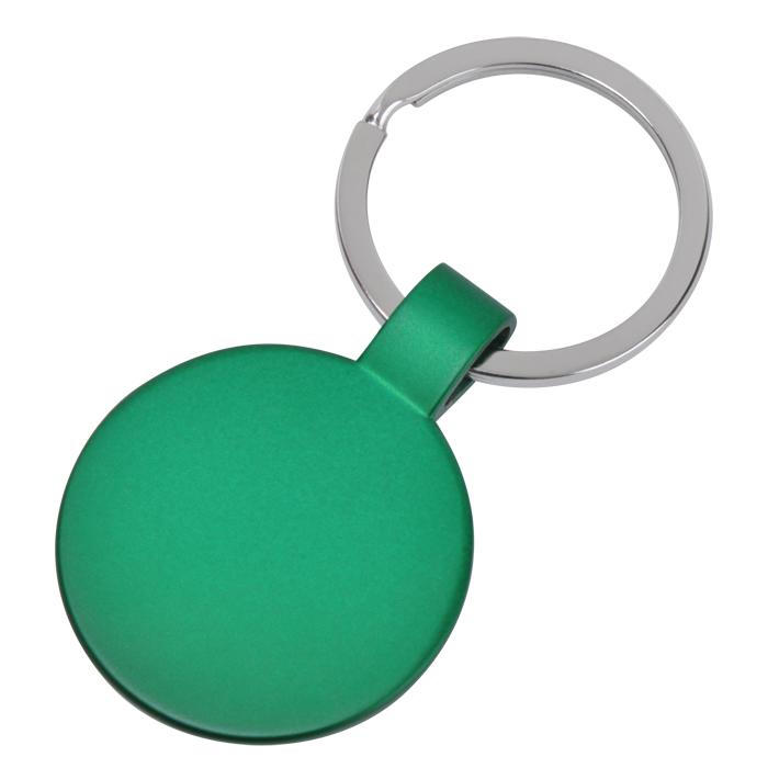 Брелок Круг,зеленый,3,7х3,7х0,1см,металл