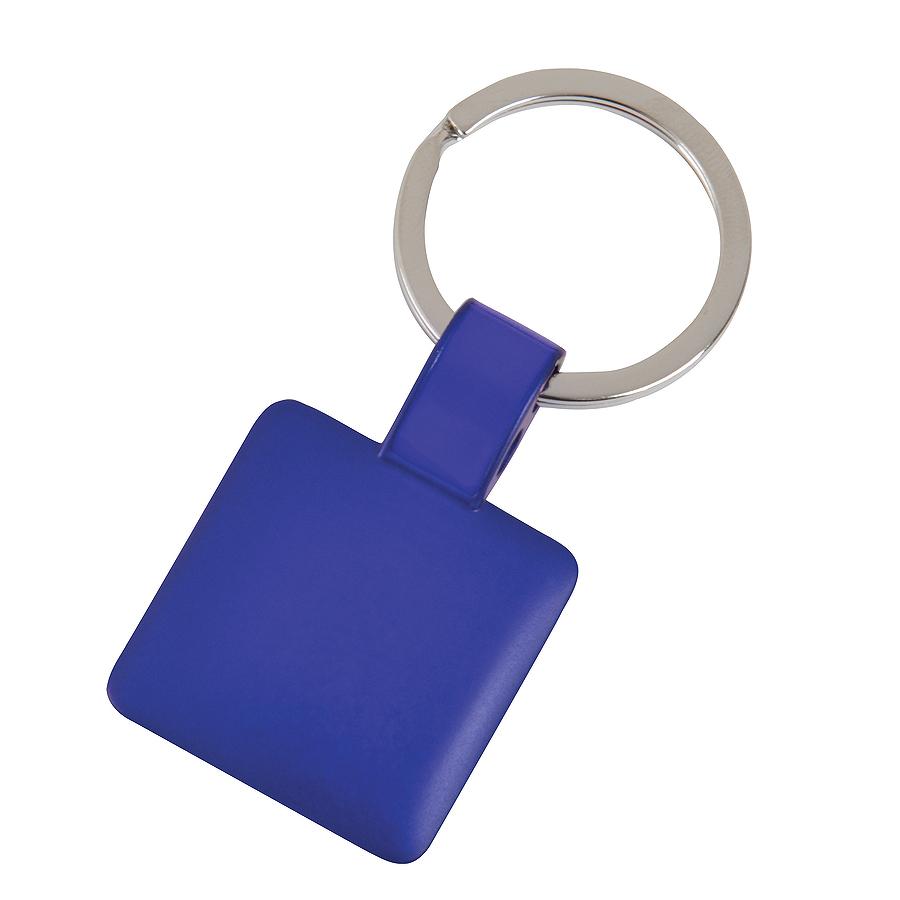Брелок Квадрат,синий,3,2х3,2х0,1см,металл