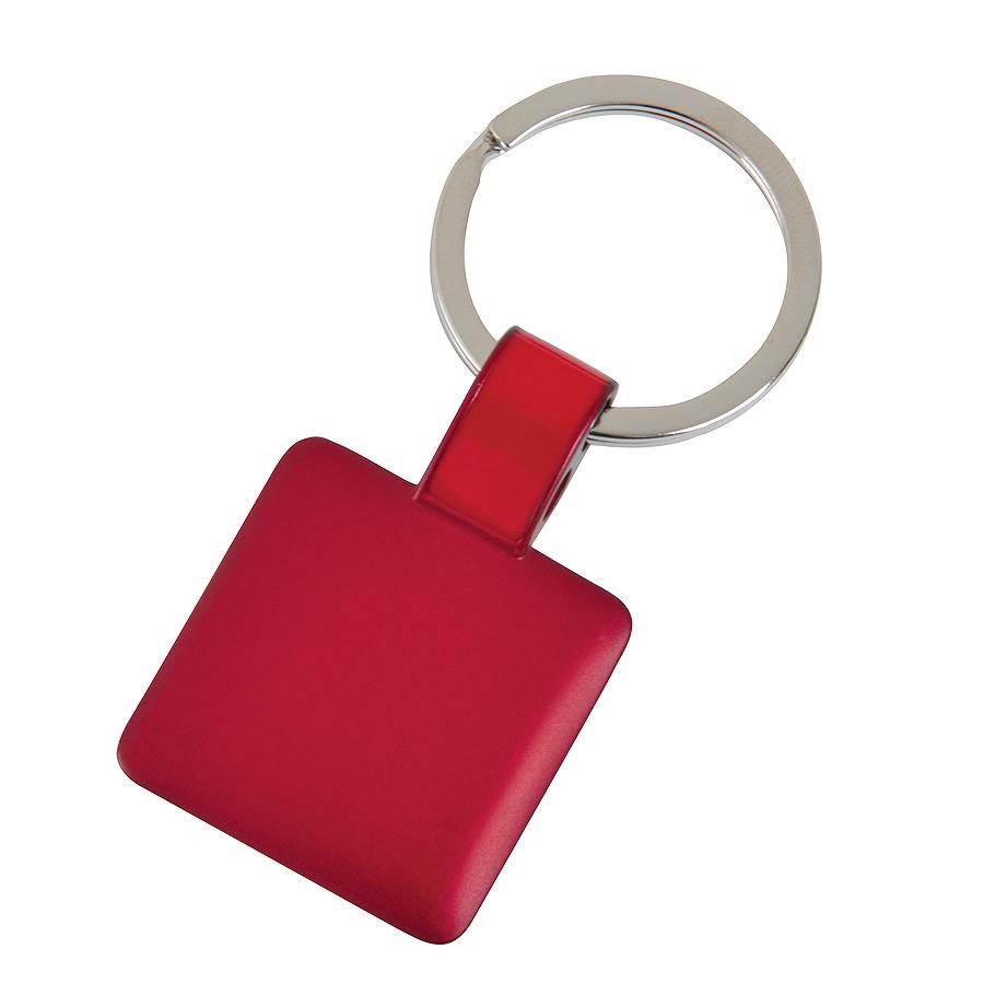Брелок Квадрат,красный,3,2х3,2х0,1см,металл
