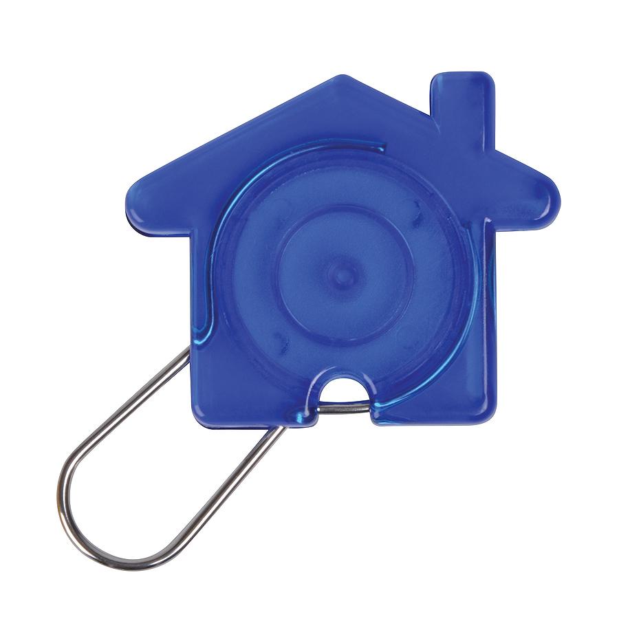 Брелок Дом, синий, 5,8х4,7х0,9см, пластик, металл