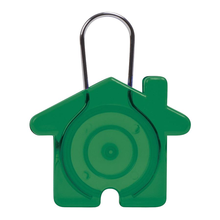 Брелок Дом, зеленый, 5,8х4,7х0,9см, пластик, металл