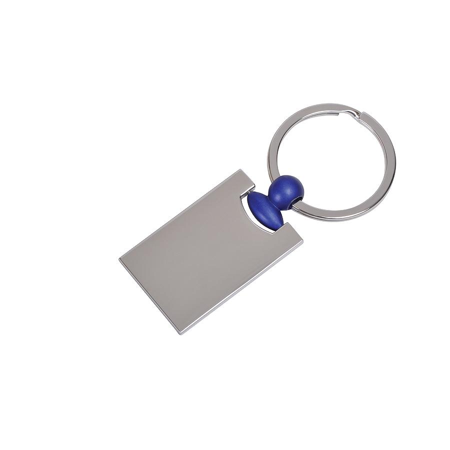 Брелок Техно с синим элементом, 2,2х4,2х0,3см, металл