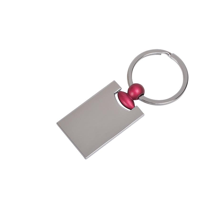 Брелок Техно с красным элементом, 2,2х4,2х0,3см, металл