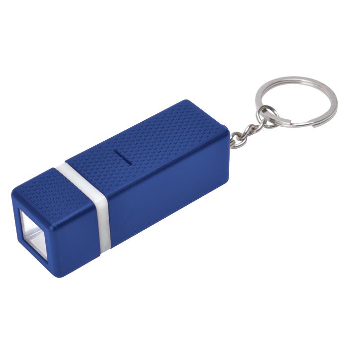 Брелок с фонариком; синий, 2х6х2см, пластик