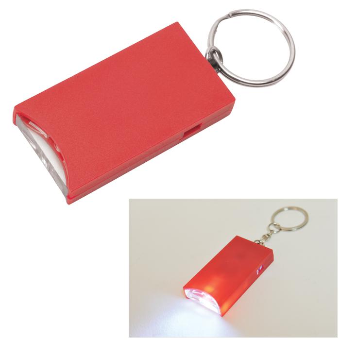 Брелок And с подсветкой; красный, 2,8х5,2х0,9 см, пластик