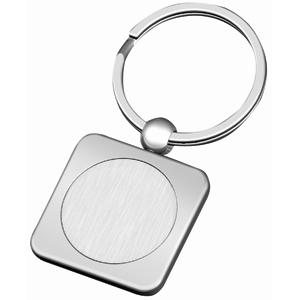 Брелок Квадрат; 6х3х0,3 см; металл