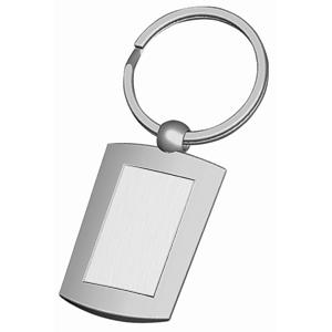 Брелок Прямоугольник; 4х2,8х0,3 см; металл