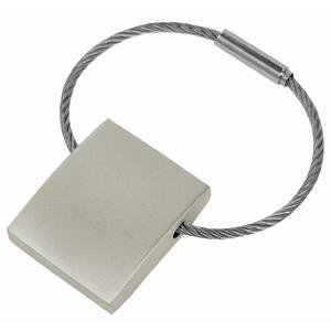 Брелок с тросиком; 3х2,5х0,7 см; металл