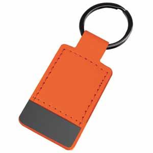 Брелок Магия черного прямоугольный; оранжевый; 10х4 см; металл, иск. кожа