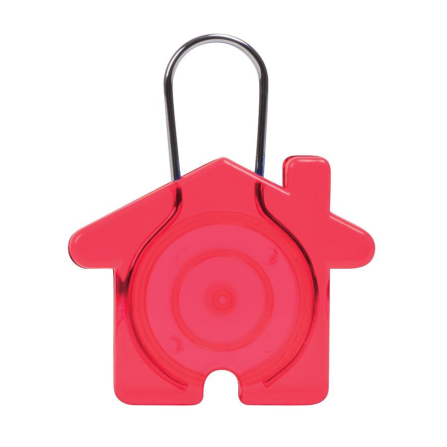 Брелок Дом,красный, 5,8х4,7х0,9см, пластик, металл