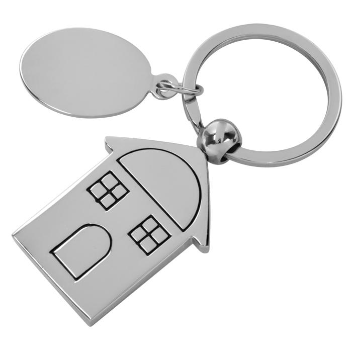 Брелок Дом,2,5х4,2х0,3см,металл