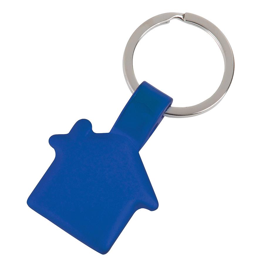 Брелок Дом,синий,3,5х3х0,2см,металл