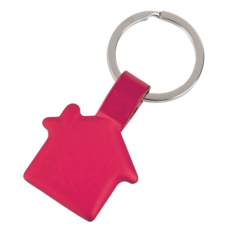 Брелок Дом,красный,3,5х3х0,2см,металл