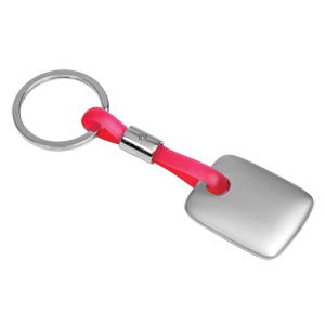 Брелок TAG красный; 3,5х3х0,3 см; металл, силикон; лазерная гравировка