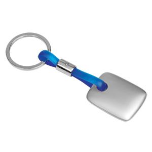 Брелок TAG синий; 3,5х3х0,3 см; металл, силикон; лазерная гравировка