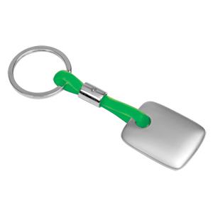 Брелок TAG зеленый; 3,5х3х0,3 см; металл, силикон; лазерная гравировка